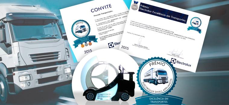 No dia 18 de Fevereiro de 2016 a GES Transportadora esteve presente na premiação cliente Electrolux.